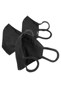 CAPO-MOUTH-NOSE-MASK-3 BUSINESS, triple pack, with filter black M/L