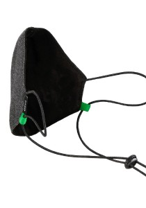 CAPO-MOUTH-NOSE-MASK-1 CORD, cord stopper, single pack, without filter anthracite/black 1sz.
