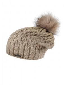 CAPO-CERRI CAP fake fur pompon