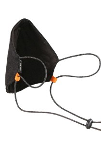 CAPO-MOUTH-NOSE-MASK-1 CORD, cord stopper, single pack, without filter black/black 1sz.