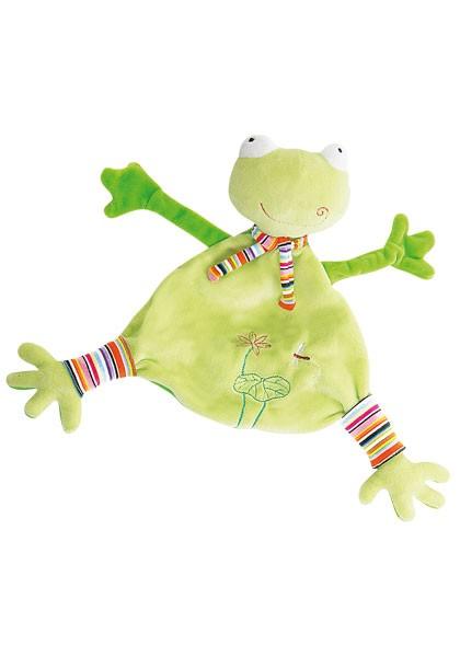 """Schmusetuch Frosch Sticker """"Teichrose und Libelle"""