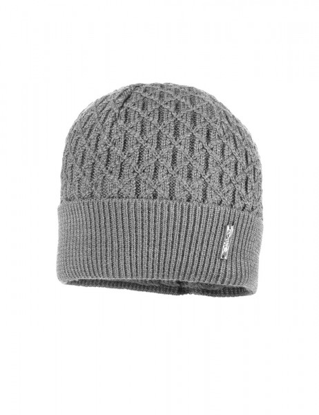 CAPO-PIERRE CAP knitted cap, turn up, short fleece lining