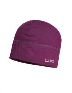 CAPO-WOOL JERSEY CAP merino wool plum 1sz.
