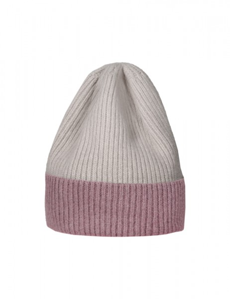 CAPO-JOSS CAP ribbed cap, two-coloured, turn up