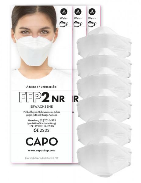 FFP2 Mund/Nase Maske, Erwachs. 6er Pack