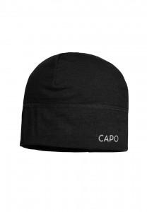CAPO-WOOL JERSEY CAP merino wool black 1sz.