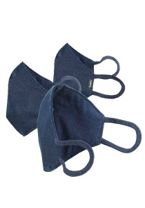CAPO-MOUTH-NOSE-MASK-3 BUSINESS, triple pack, with filter navy M/L