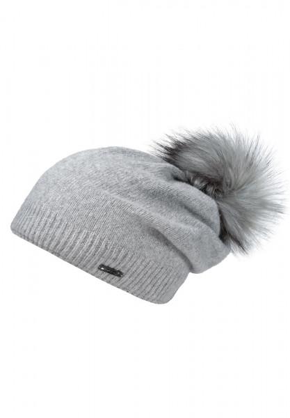 CAPO-SPLIT CAP fake fur pompon