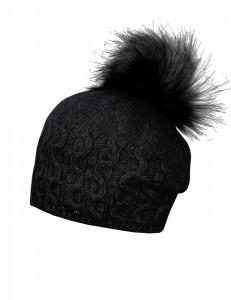 CAPO-ISCHGL CAP fake fur pompon