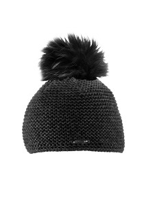 CAPO-BEE CAP fake fur pompon