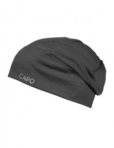 CAPO-WOOL JERSEY CAP LONG merino wool granite 1sz.