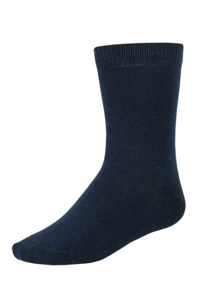 KIDS-Socke, uni glatt, Rippbündchen