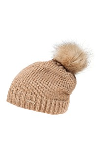 CAPO-GLAMOUR CAP 2.0 fake fur pompon