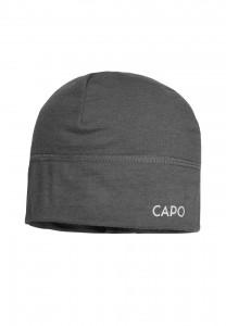 CAPO-WOOL JERSEY CAP merino wool granite 1sz.