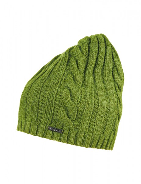CAPO-DACEY CAP knitted cable cap, ribbed edge