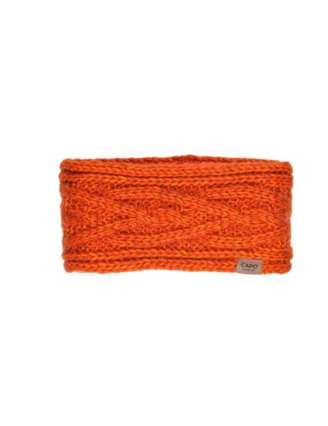 CAPO-ECO TANGLED HEADBAND recycled yarn, fleece lining