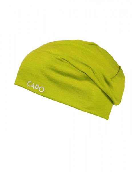 GOTS CAPO-WOOL JERSEY CAP LONG merino wool