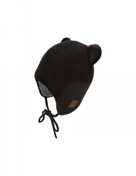 GOTS BABY-Mütze ausgenäht LL, mit Ohren