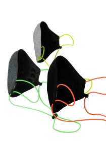 CAPO-MOUTH-NOSE-MASK-3 CORD NEON, cord stopper, triple pack, without filter multicolor 1sz.