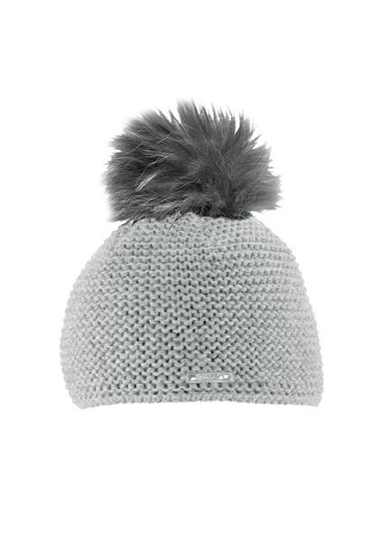 CAPO-BEE CAP fake fur pompon