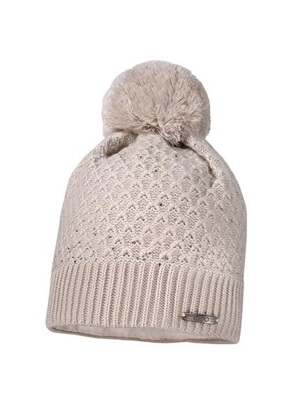CAPO-PULCINO CAP rhinestones, wool pompon