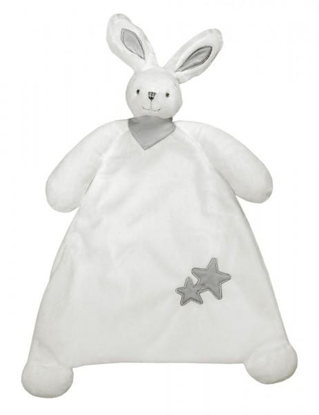 Kuscheltuch Hase mit Tuch Raschelpapier im Ohr, Sterne
