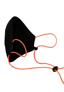 CAPO-MOUTH-NOSE-MASK-1 CORD, cord stopper, single pack, without filter black/pumpkin 1sz.