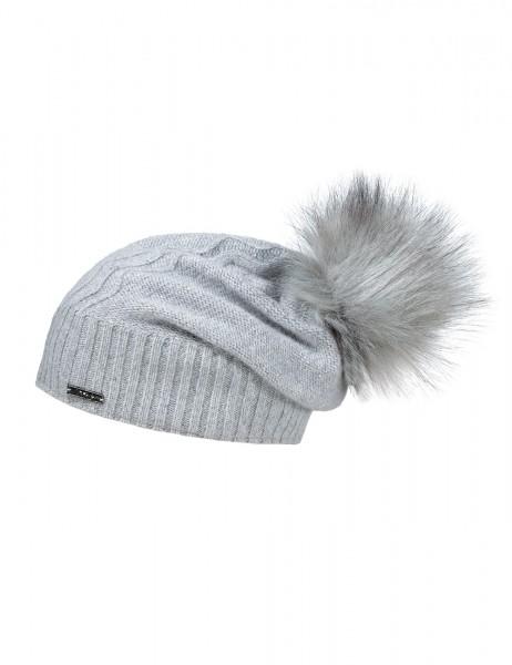CAPO-WAVE CAP rhinestones, fake fur pompon