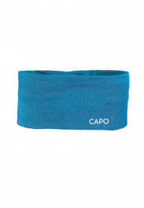 CAPO-WOOL JERSEY HEADBAND merino wool turquoise 1sz.