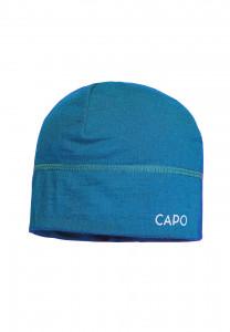 CAPO-WOOL JERSEY CAP merino wool turquoise 1sz.