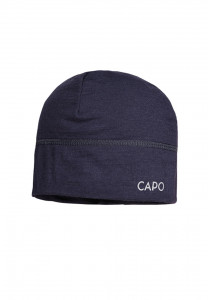 CAPO-WOOL JERSEY CAP merino wool navy 1sz.