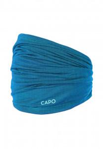 CAPO-WOOL JERSEY MULTI TUBE merino wool turquoise 1sz.