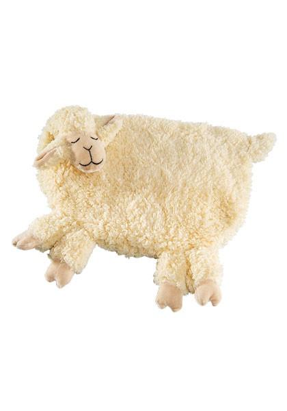 Schlafendes Schaf, Kirschkern mit Klettverschluss